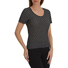 Buy Betty Barclay Short Sleeved Top, Black/Cream Online at johnlewis.com