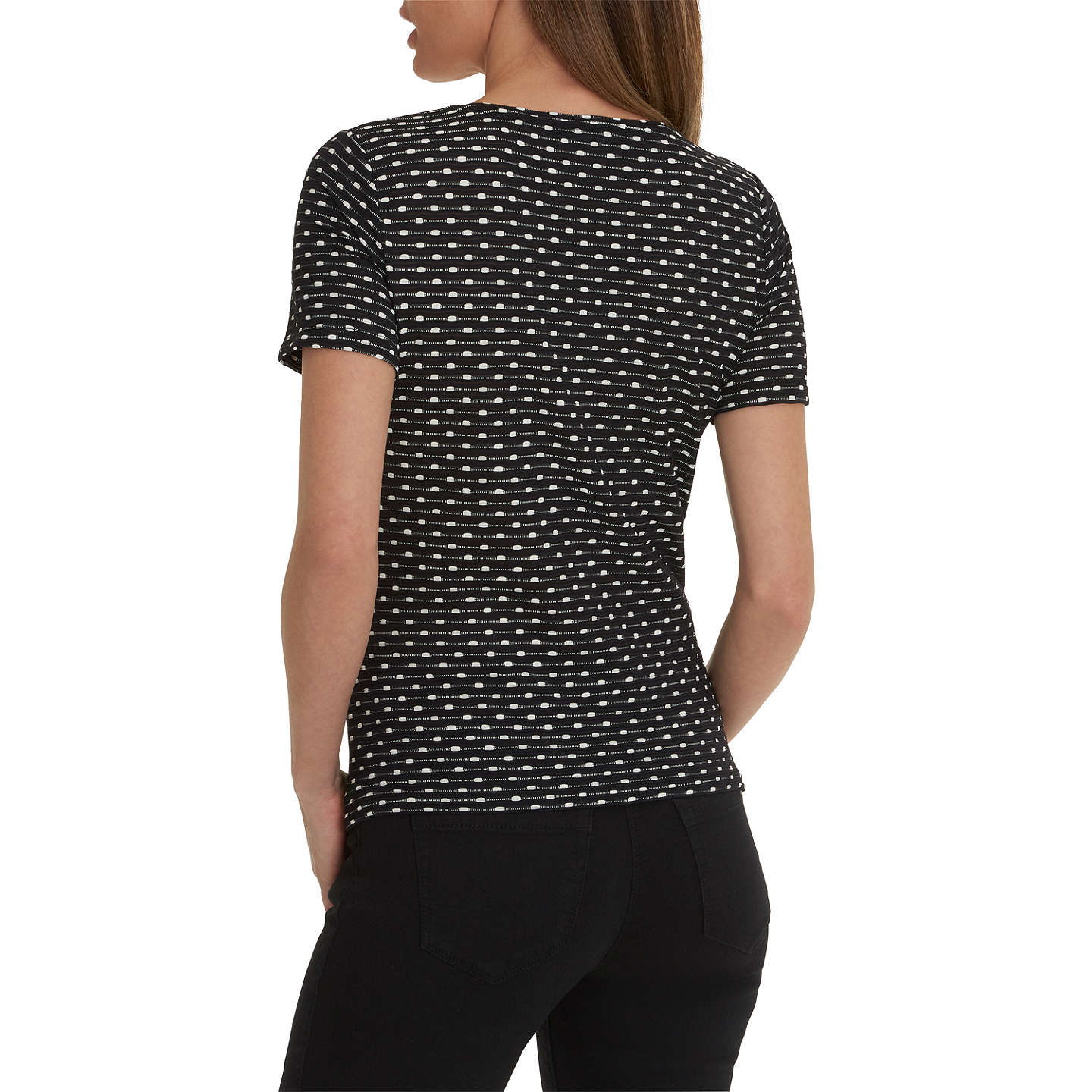 BuyBetty Barclay Short Sleeved Top, Black/Cream, 8 Online at johnlewis.com