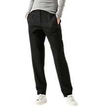 Buy Jigsaw Utility Twill Cuff Trouser, Black Online at johnlewis.com