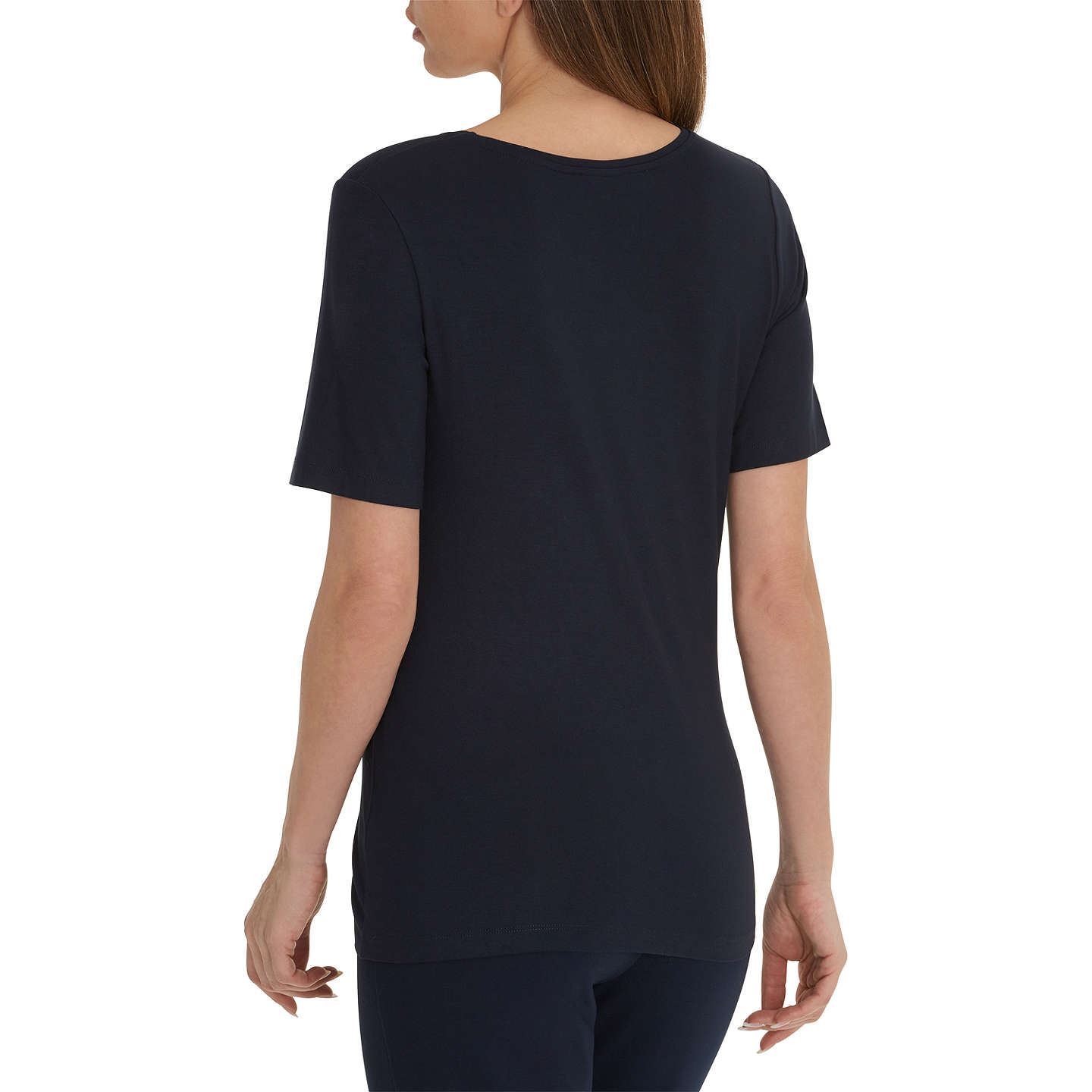 BuyBetty Barclay Embellished Round Neck Short Sleeve T-Shirt, Dark Sky, 10 Online at johnlewis.com