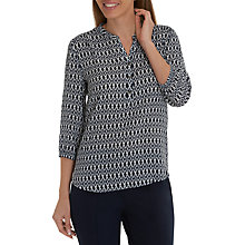 Buy Betty Barclay Graphic Print V Neck Three Quarter Sleeve Blouse, Black/White Online at johnlewis.com