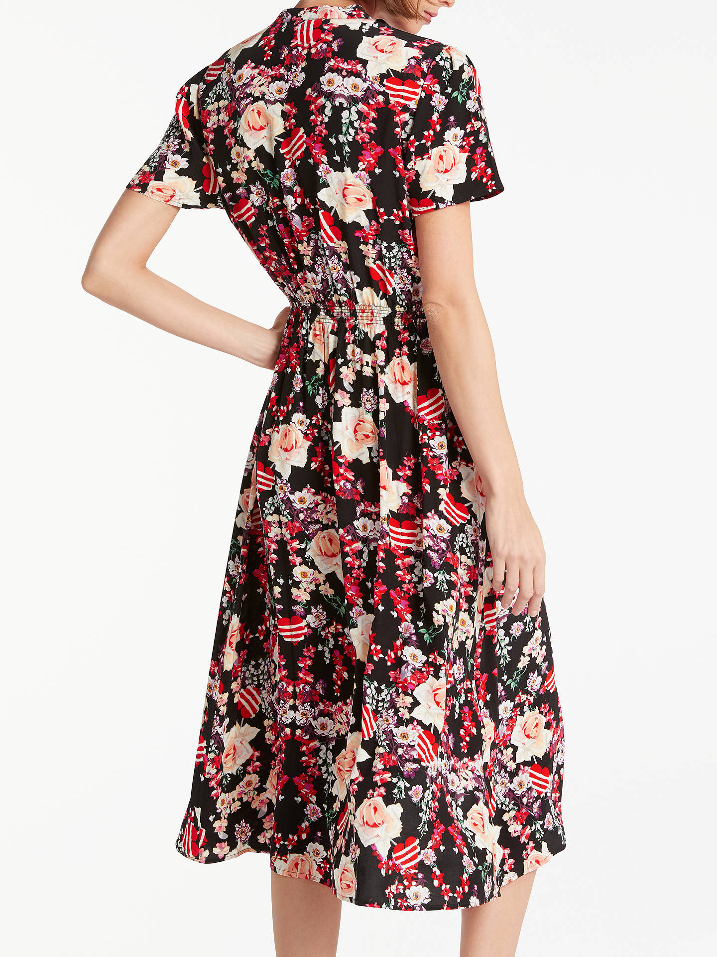 BuySomerset by Alice Temperley Pirate Heart Print Shirt Dress, Black/Multi, 8 Online at johnlewis.com