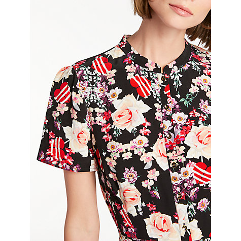 Buy Somerset by Alice Temperley Pirate Heart Print Shirt Dress, Black/Multi Online at johnlewis.com