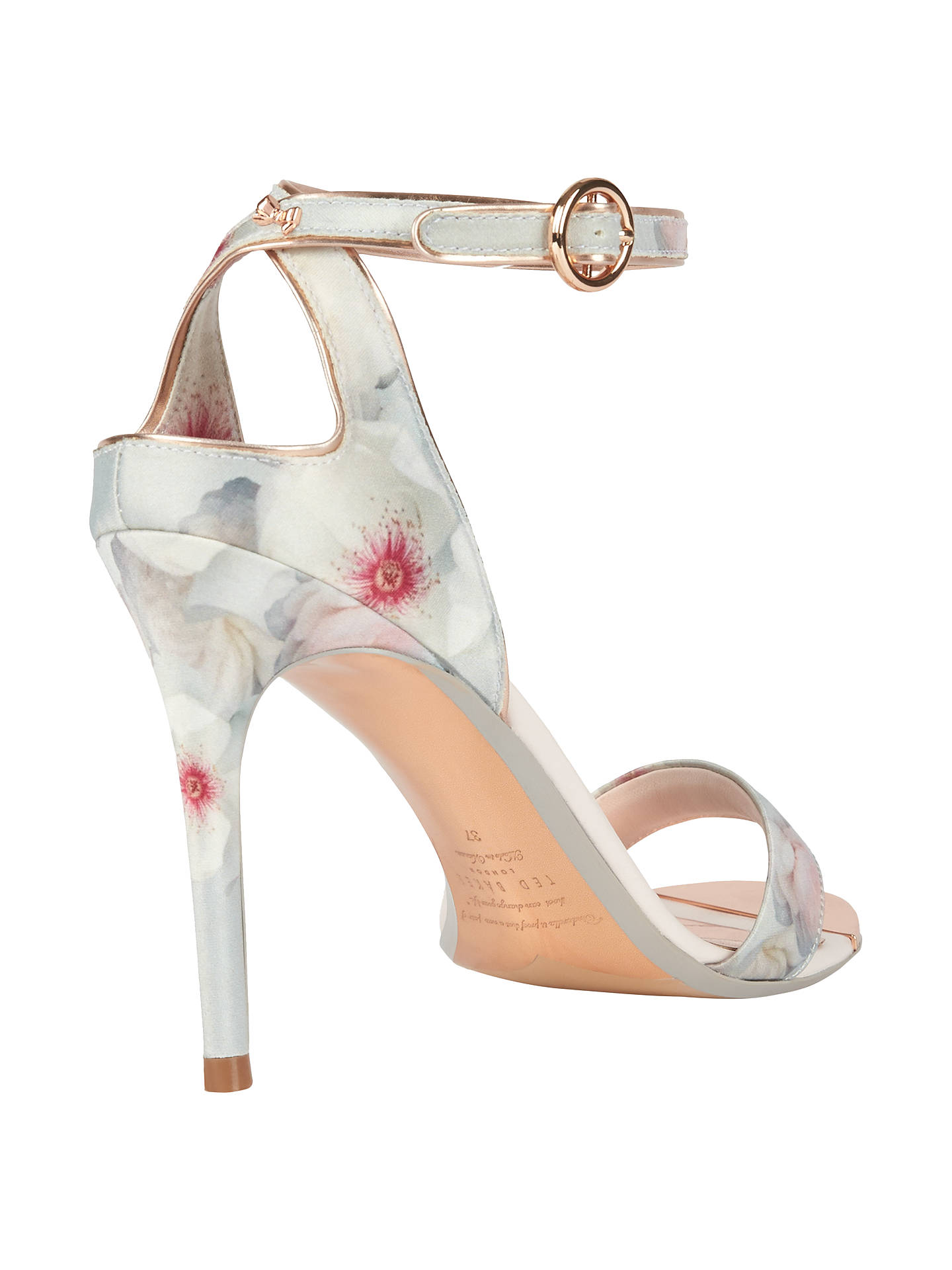 BuyTed Baker Mirobep Stiletto Heeled Sandals, Grey, 4 Online at johnlewis.com