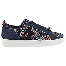 Buy Ted Baker Sorcey Lace Up Trainers, Dark Blue Online at johnlewis.com