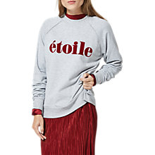 Buy Selected Femme Etoile Sweatshirt, Light Grey Melange Online at johnlewis.com