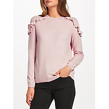 Buy JEFF Clem Ruffle Shoulder Jumper, Pink Online at johnlewis.com