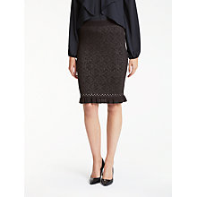 Buy Max Studio Jacquard Knit Skirt, Black Online at johnlewis.com