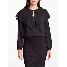Buy Max Studio Long Sleeve Double Layer Top, Black Online at johnlewis.com