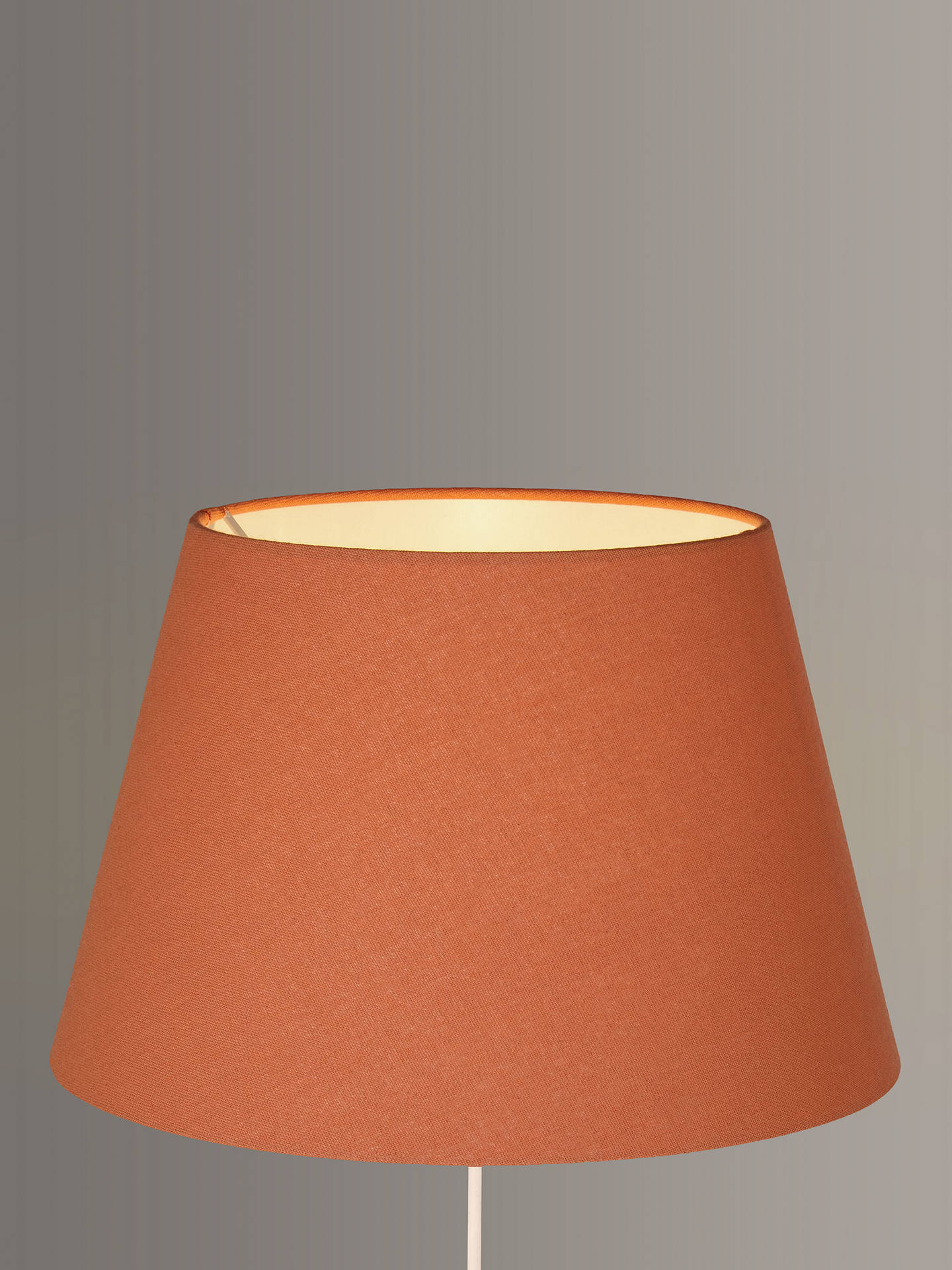 BuyJohn Lewis & Partners Chrissie Tapered Lampshade, Orange, Dia.20cm Online at johnlewis.com