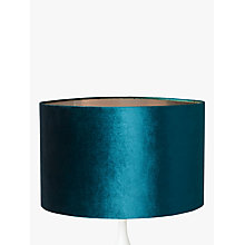 Ceiling lamp shades furniture lights john lewis buy john lewis jenny velvet cylinder lampshade online at johnlewis aloadofball Image collections