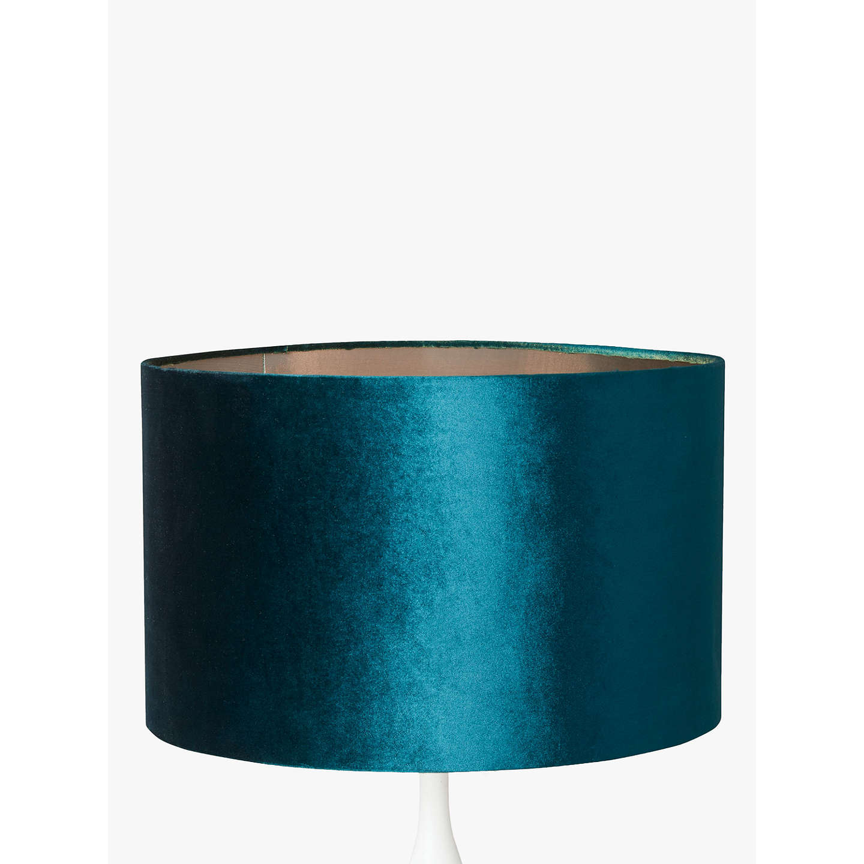 John lewis jenny velvet cylinder lampshade at john lewis buyjohn lewis jenny velvet cylinder lampshade teal dia 20cm online at johnlewis aloadofball Gallery