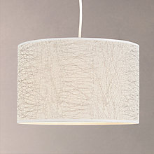 Buy John Lewis Amy Criss Cross Textured Lampshade, Silver Online at johnlewis.com