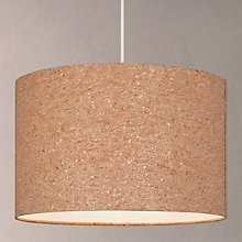 Buy House by John Lewis Chloe Cork Flecked Lampshade, Natural Online at johnlewis.com