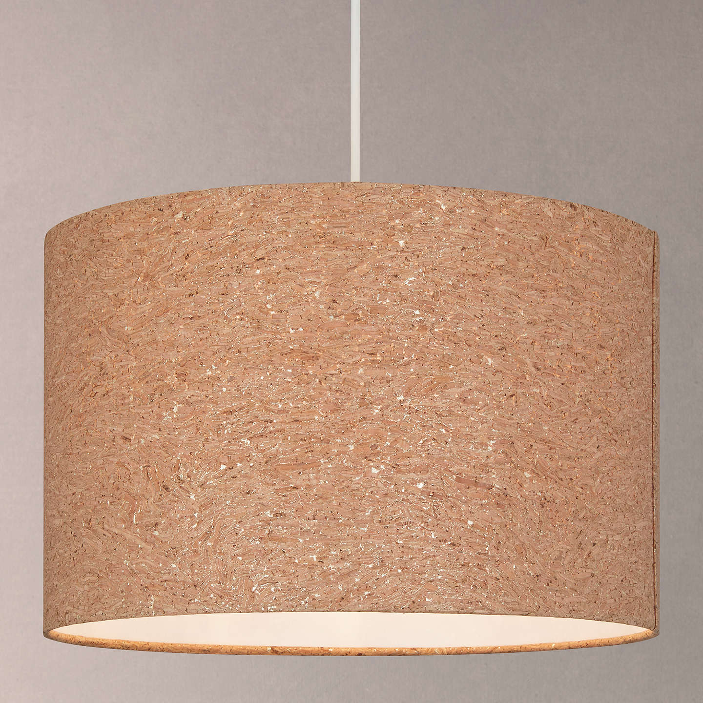 House by john lewis chloe cork flecked lampshade natural at john lewis buyhouse by john lewis chloe cork flecked lampshade natural dia25cm online at mozeypictures Choice Image