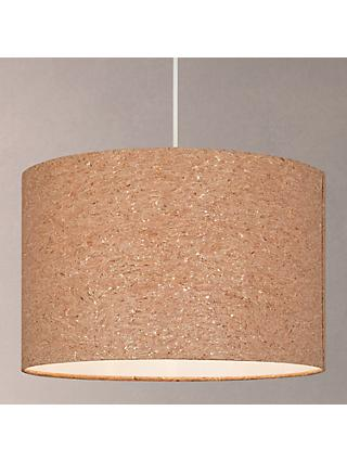 House by John Lewis Chloe Cork Flecked Lampshade, Natural