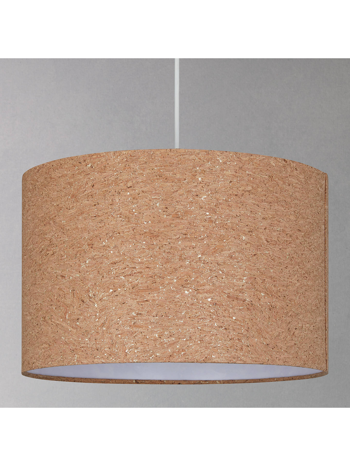 BuyHouse by John Lewis Chloe Cork Flecked Lampshade, Natural, Dia.25cm Online at johnlewis.com