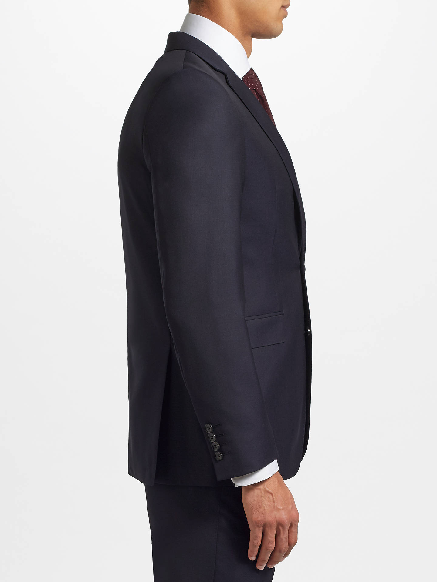 Buy John Lewis & Partners Ermenegildo Zegna Super 160s Wool Twill Half Canvas Tailored Suit Jacket, Navy, 40R Online at johnlewis.com