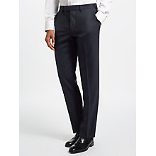 Buy John Lewis Ermenegildo Zegna Super 160s Wool Twill Tailored Suit Trousers, Navy Online at johnlewis.com