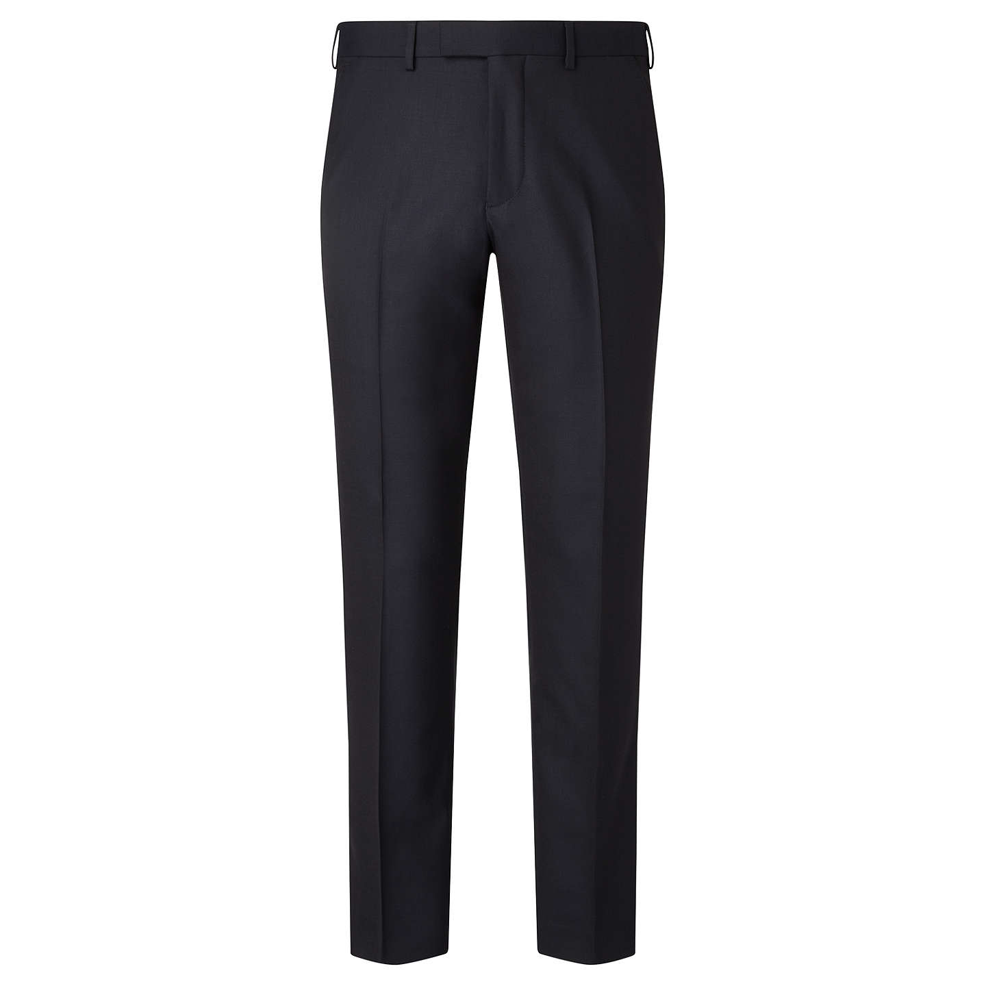 BuyJohn Lewis Ermenegildo Zegna Super 160s Wool Twill Tailored Suit Trousers, Navy, 42R Online at johnlewis.com