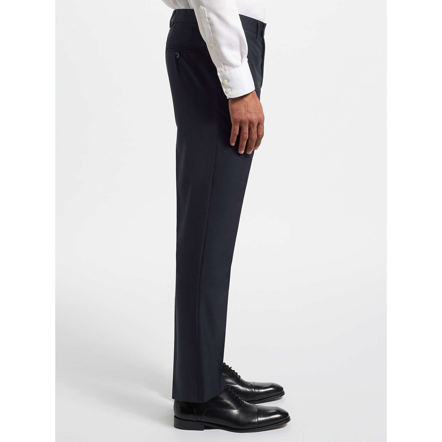 BuyJohn Lewis Ermenegildo Zegna Super 160s Wool Twill Tailored Suit Trousers, Navy, 32S Online at johnlewis.com