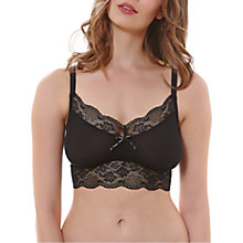 Buy Freya Fancies Non Wired Bralette, Black Online at johnlewis.com