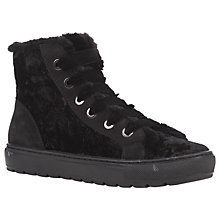 Buy Geox Breeda High Top Lace Up Trainers, Black Online at johnlewis.com