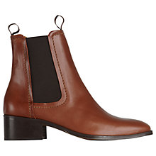 Buy Whistles Fernbrook Ankle Boots, Tan Leather Online at johnlewis.com