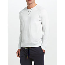 Buy Paul Smith Loungewear Crew Neck Sweatshirt, White Online at johnlewis.com