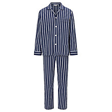 Buy Derek Rose Stripe Cotton Pyjamas, Blue Online at johnlewis.com