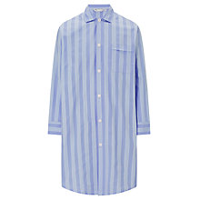 Buy Derek Rose Satin Cotton Stripe Nightshirt, Blue Online at johnlewis.com