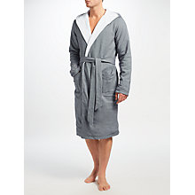 Buy Hamilton and Hare Cotton Towelling Boxing Robe, Grey Online at johnlewis.com