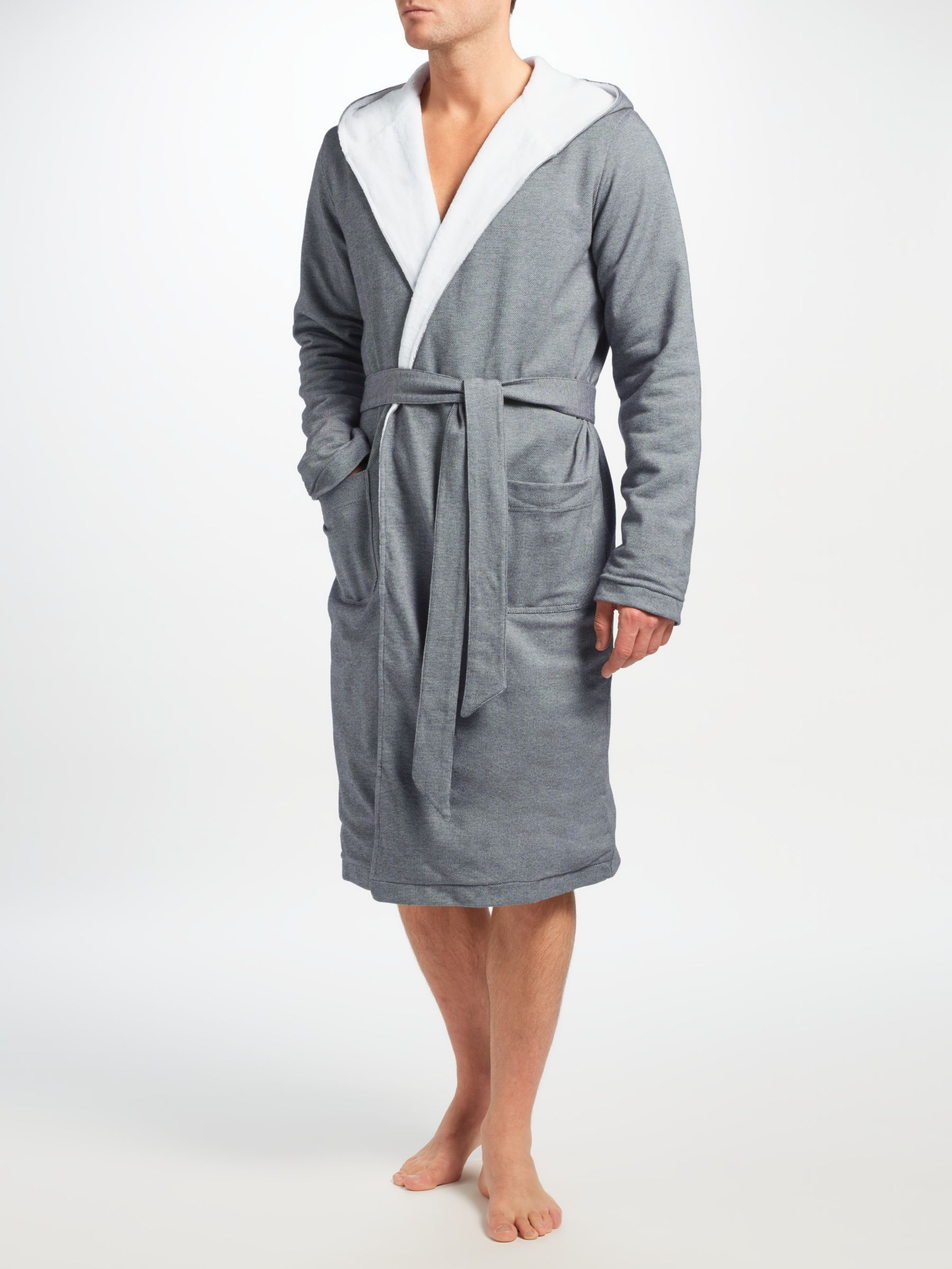 Hamilton And Hare Cotton Towelling Boxing Robe Grey At John Lewis Partners