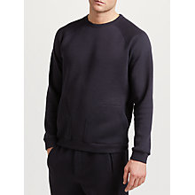 Buy Hamilton and Hare Downtime Crew Sweatshirt, Storm Blue Online at johnlewis.com