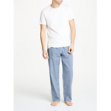 Buy John Lewis Stripe Seersucker Cotton Lounge Pants, White/Blue Online at johnlewis.com