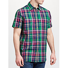 Buy John Lewis Fenton Short Sleeve Check Shirt, Berry Online at johnlewis.com