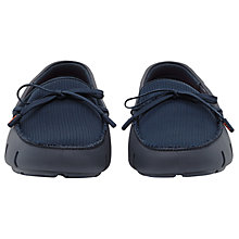 Buy Reiss Swims Waterproof Lace Up Loafers, Navy Online at johnlewis.com