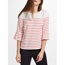 Buy John Lewis Frill Stripe Breton Top Online at johnlewis.com