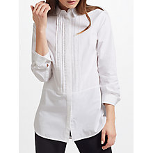 Buy John Lewis Pom Trim Shirt, White Online at johnlewis.com