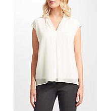 Buy John Lewis Cora Pleated Top, White Online at johnlewis.com