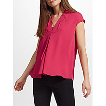 Buy John Lewis Cora Pleat Top, Pink Online at johnlewis.com