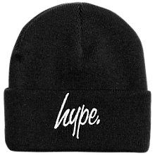 Buy Hype Children's Beanie Hat, Black Online at johnlewis.com