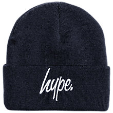 Buy Hype Boys' Beanie Hat, Navy Online at johnlewis.com
