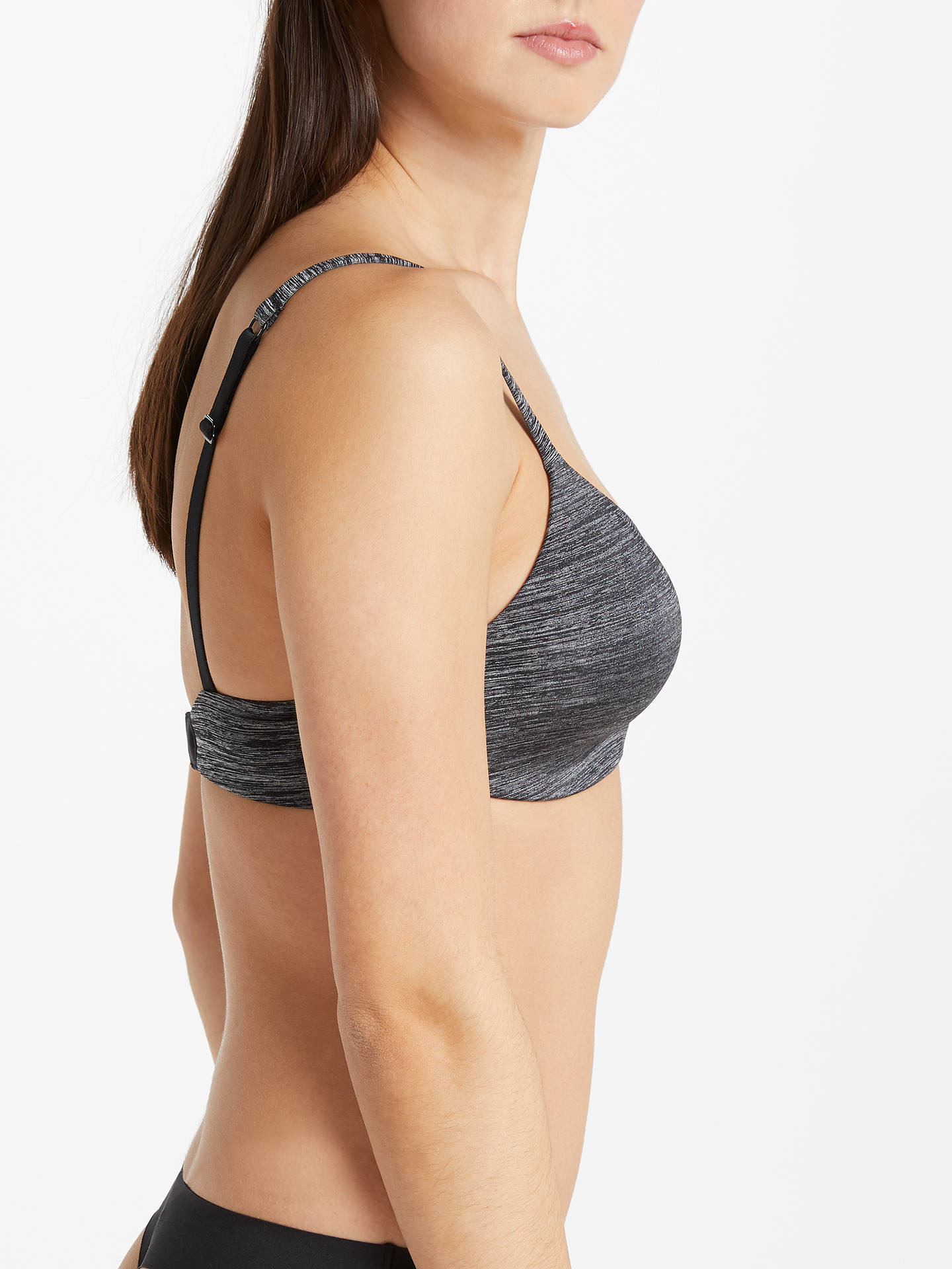 BuyAND/OR Morgan T-Shirt Bra, Black/Grey, 30C Online at johnlewis.com