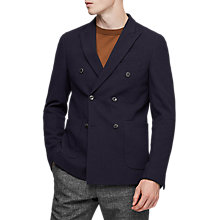 Buy Reiss Timmy Double Breasted Blazer, Navy Online at johnlewis.com