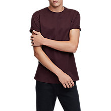 Buy Reiss Bless T-Shirt, Burgundy Online at johnlewis.com