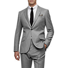 Buy Reiss Joshua Wool Peak Lapel Modern Fit Suit, Grey Online at johnlewis.com