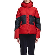 Buy Whistles Iva Casual Colourblock Puffer Jacket, Red Online at johnlewis.com