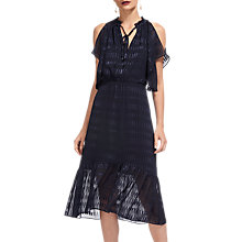 Buy Whistles Tina Dobby Midi Dress, Navy Online at johnlewis.com