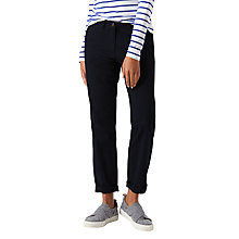 Buy Jigsaw Lux Drill Cotton Chino Trousers, Navy Online at johnlewis.com